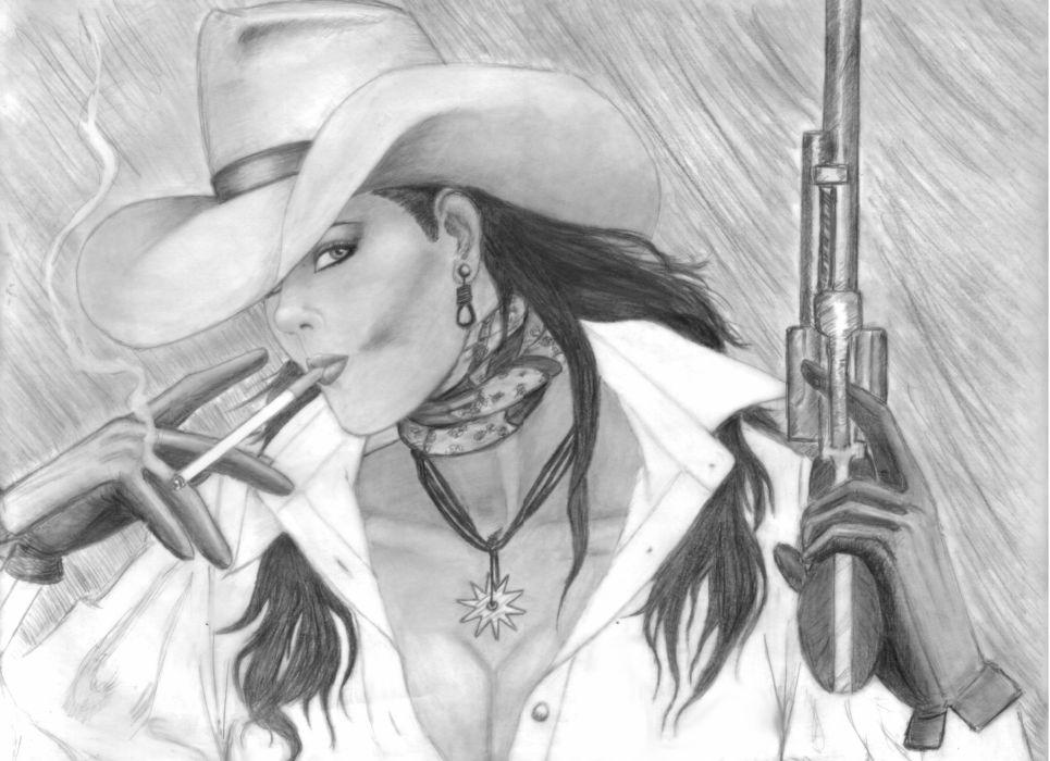 GIRLS WITH GUNS weapon gun girls girl sexy babe art        f wallpaper
