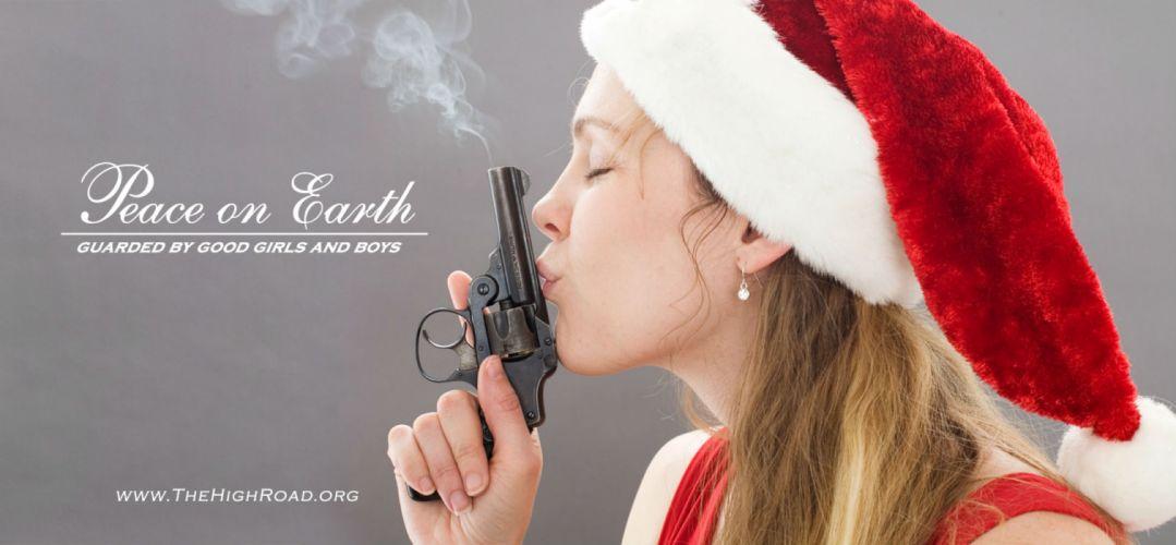 GIRLS WITH GUNS weapon gun girls poster sexy babe christmas g wallpaper