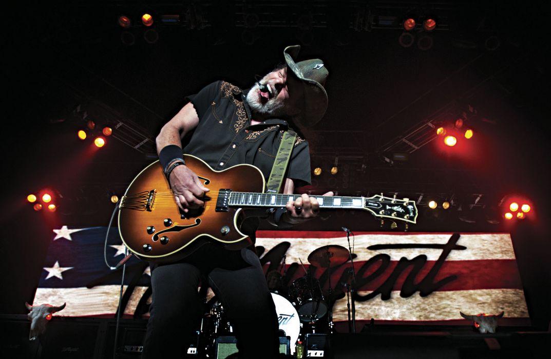 TED NUGENT hard rock classic concert guitar  y wallpaper
