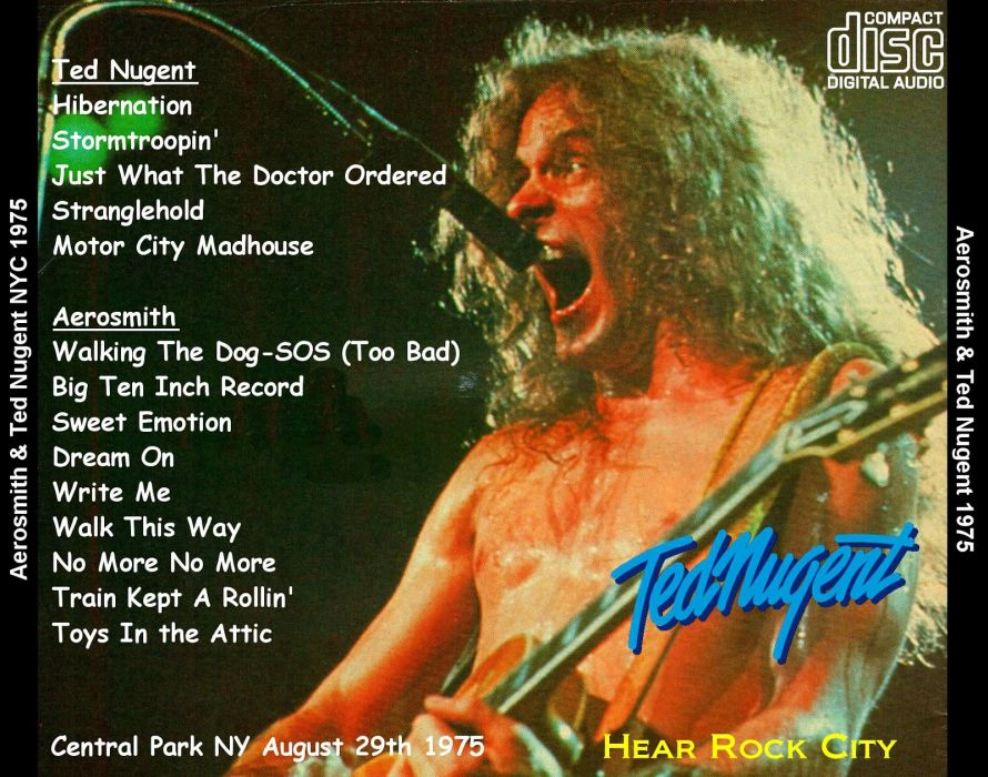 TED NUGENT hard rock classic concert poster   h wallpaper