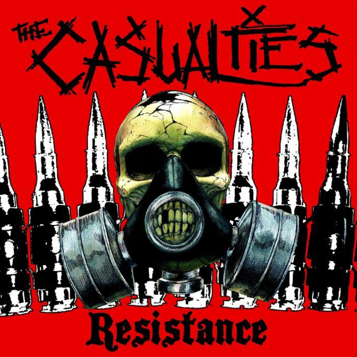 THE CASUALTIES hardcore punk rock dark skull ananrchy gas mask wallpaper