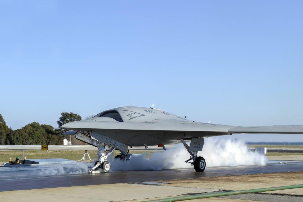 Airplane Fighter X-47B Pegasus Aviation jet military      g wallpaper