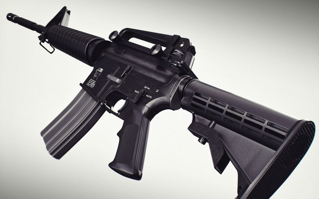 Assault rifle Closeup M4 weapon gun military       g wallpaper