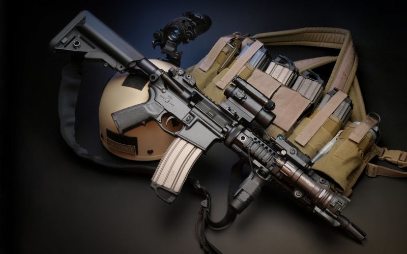 Assault rifle Rifles M4 weapon gun military police f wallpaper