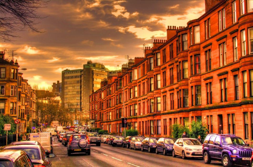 City Building Street Road Wallpaper