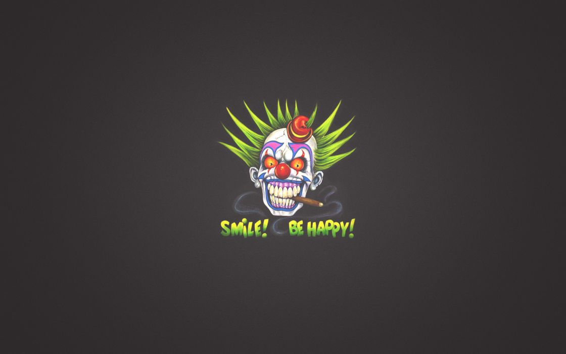 clown sign smile zombie skull       f wallpaper