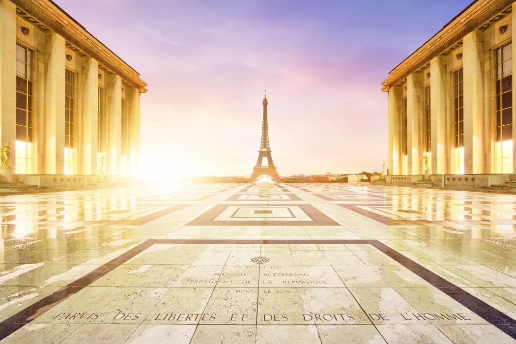 France Palais de Chaillot Eiffel Tower Paris Cities wallpaper