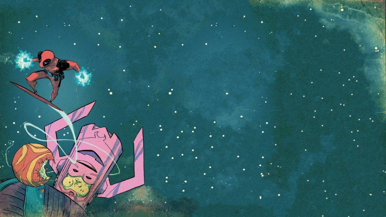 Galactus Marvel Deadpool Stars wallpaper