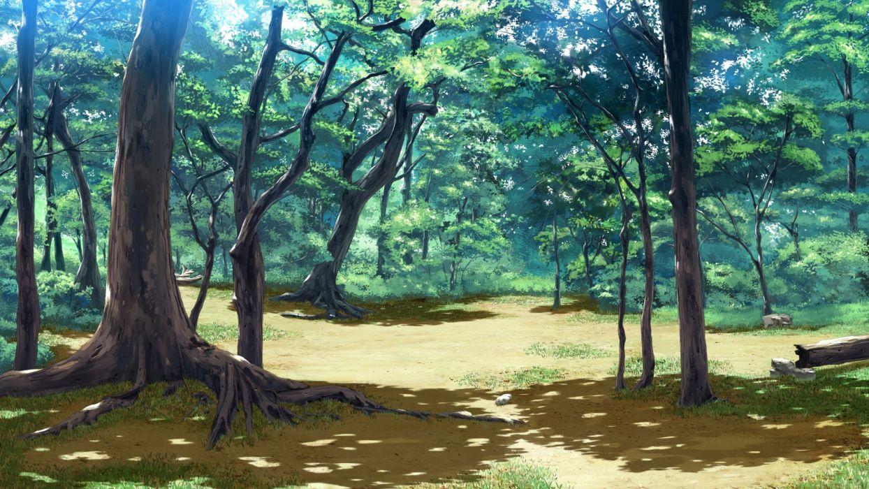 koiken otome forest game cg koiken otome nobody scenic tree wallpaper