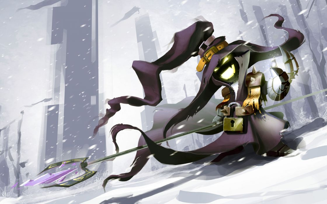 league of legends snow veigar weapon witch hat fantasy    d wallpaper