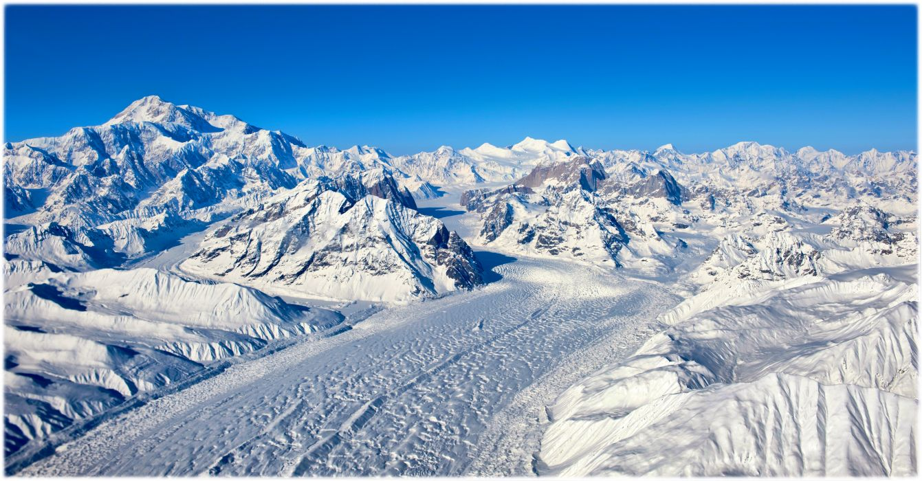 mountains the Himalayas and peaks slopes snow ice sky wallpaper