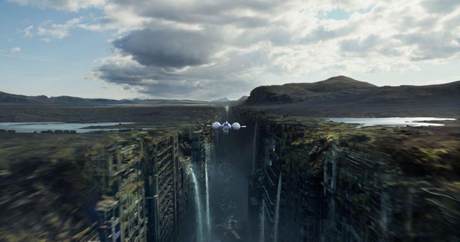 oblivion flight Oblivion spaceship apocalyptic city waterfall g wallpaper