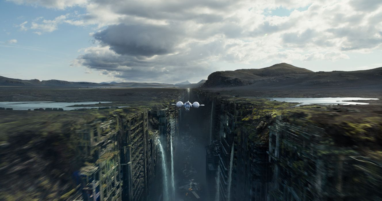 oblivion flight Oblivion spaceship apocalyptic city waterfall     g wallpaper