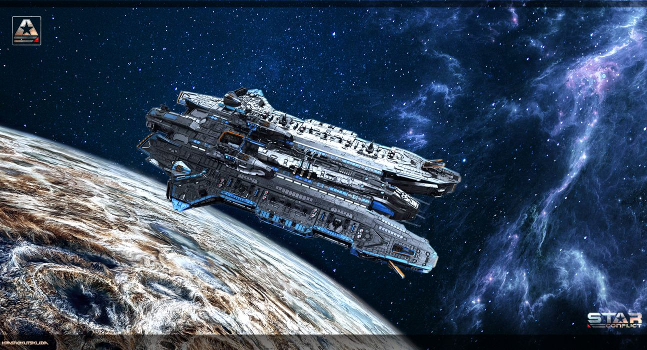 Star Conflict Ships Games Space spaceship sci-fi f wallpaper