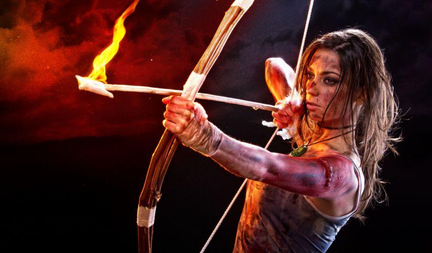 Tomb Raider 2013 Archer Lara Croft Games Girls fantasy warrior g wallpaper
