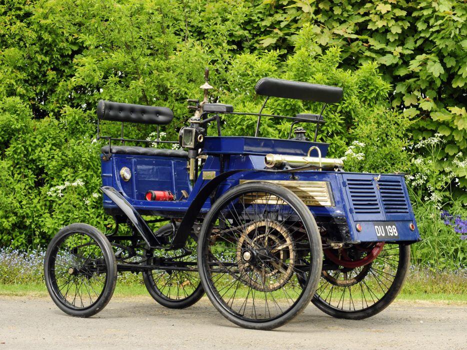 1899 Hurtu Quadricycle retro   g wallpaper