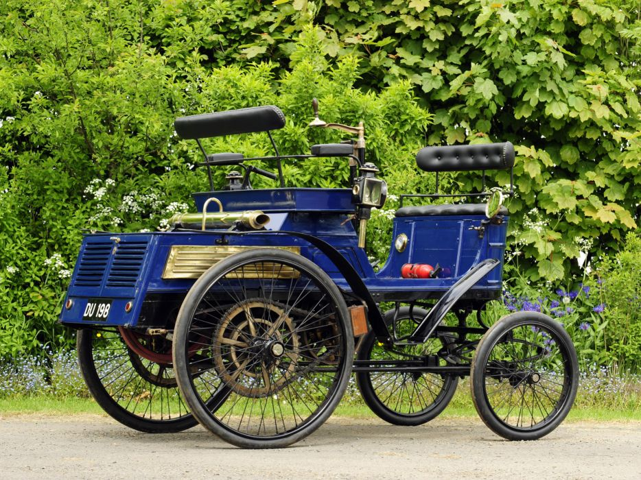 1899 Hurtu Quadricycle retro   t wallpaper