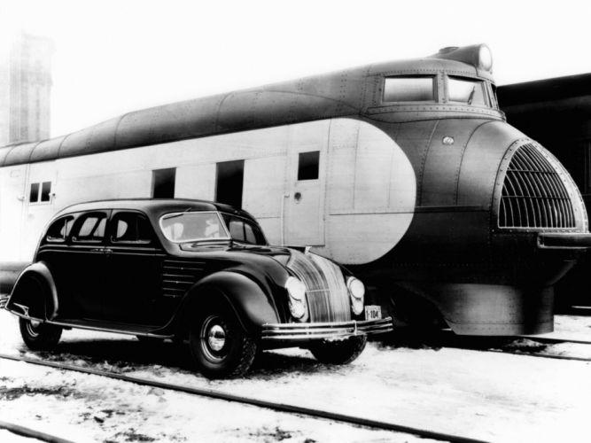 1934 Chrysler Airflow retro train g wallpaper