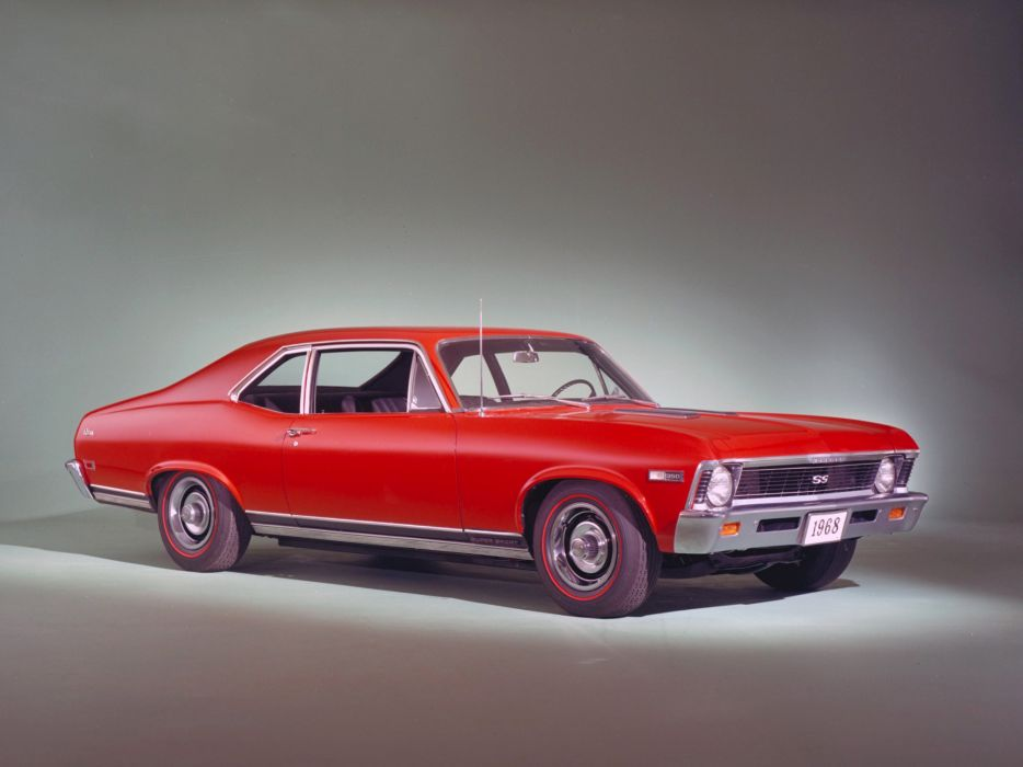 1968 Chevrolet Chevy II Nova SS 350 Coupe (11427) classic muscle s-s          f wallpaper