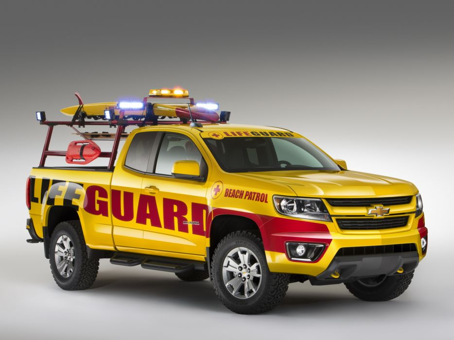 2013 Chevrolet Colorado Beach Patrol Show Truck 4x4 pickup emergency surfing  v wallpaper