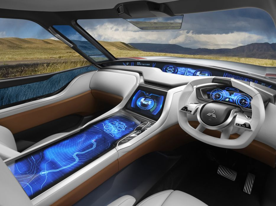 2013 Mitsubishi Concept GC-PHEV suv interior      f wallpaper
