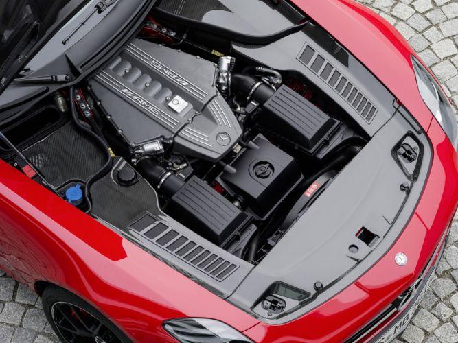2014 Mercedes Benz SLS 63 AMG GT (C197) supercar engine h wallpaper