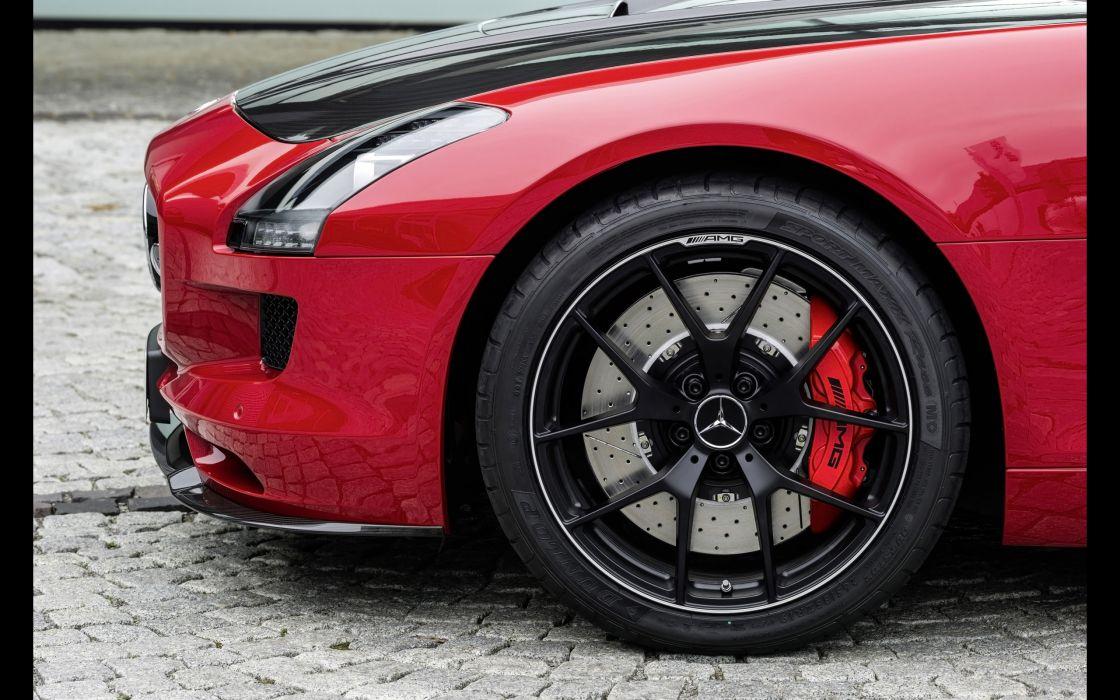 2014 Mercedes Benz SLS 63 AMG GT (C197) supercar wheel     f wallpaper