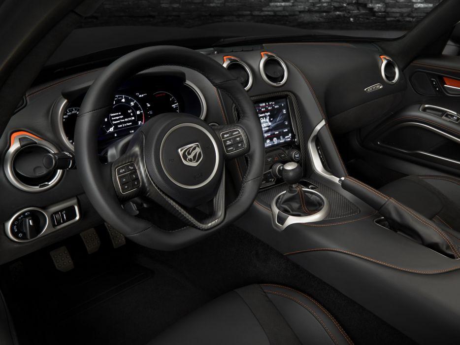 2014 SRT Dodge Viper GTS Carbon supercar muscle interior       g wallpaper