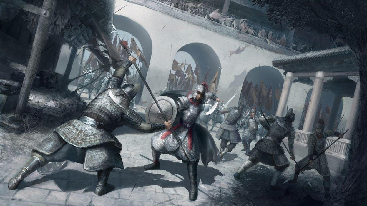 art battle battle men of war samurai gun warrior    g wallpaper