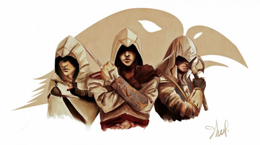 Assassins Creed Three 3 Hood headgear warrior f wallpaper