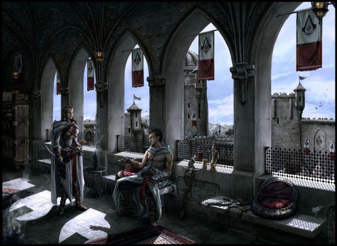 Assassins Creed Altair and Adha fantasy f wallpaper