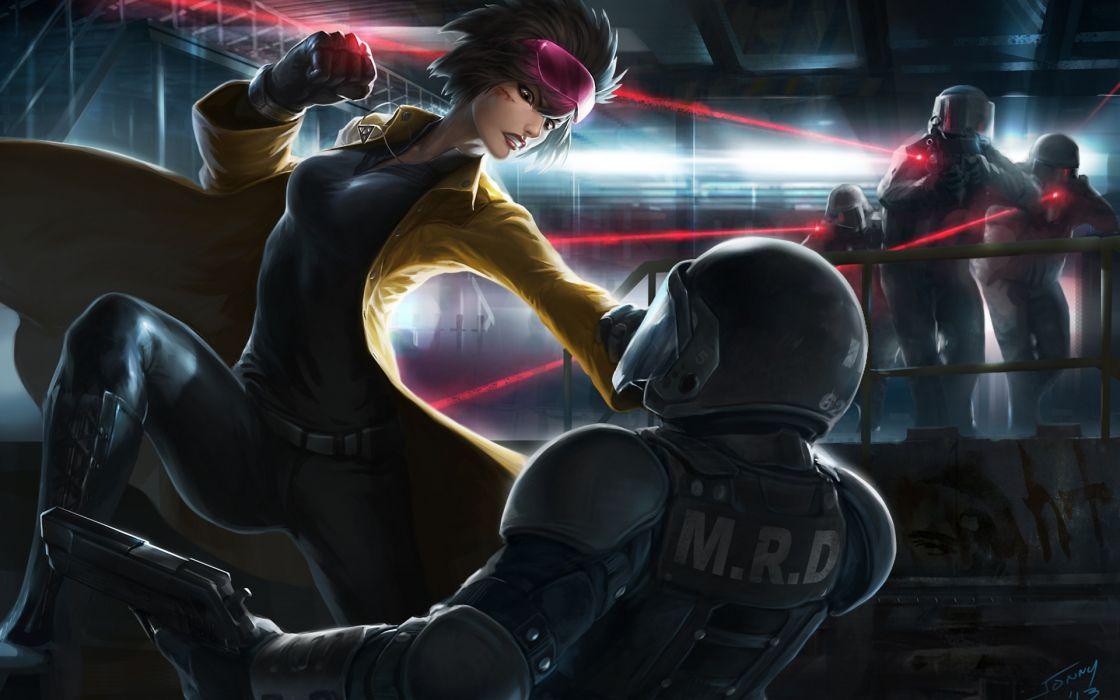 Battle Soldier Helmet Fantasy Girls warrior wallpaper