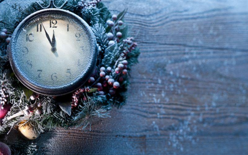 clock new year frozen time wallpaper