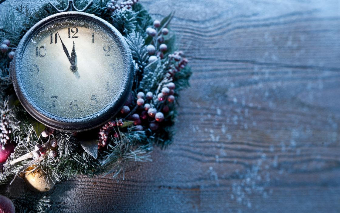 clock new year frozen time wallpaper