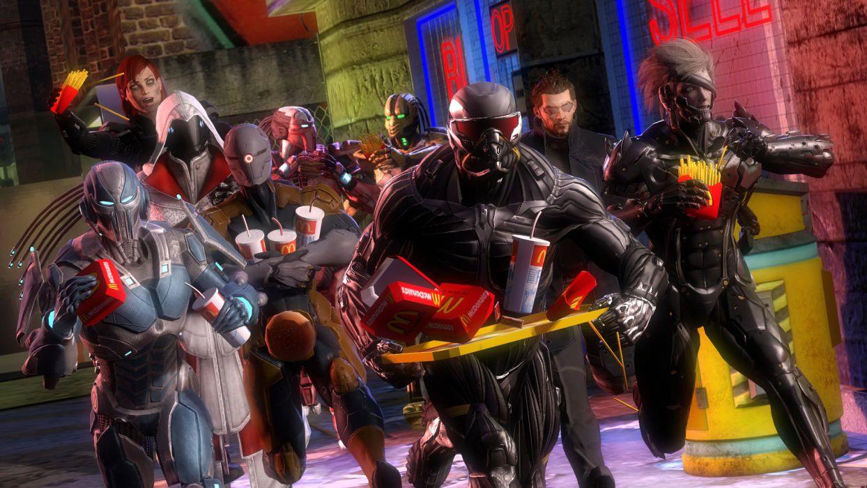 cyborg Deus Ex Human Revolution Adam Jensen fan art Rayden crysis Prophet Nanosuit gray fox frank jaeger Sektor Cyrax Smoke Assassin's Creed Metal Gear Rising mgs femshep mass effect wallpaper