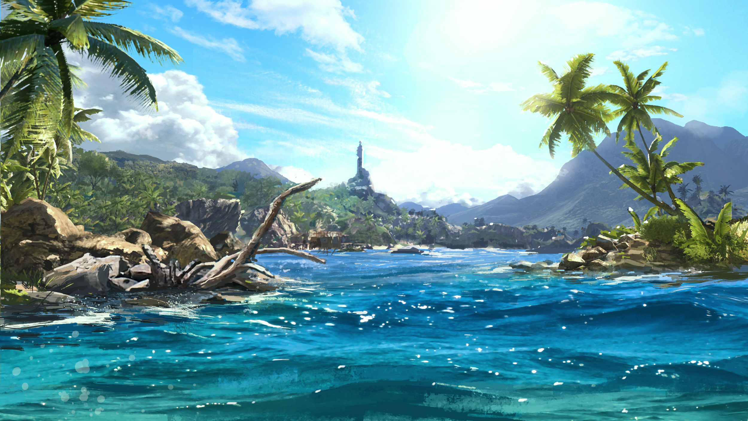 Far Cry 3 Sea Water Tropics Palma Games Fantasy Landscape F Wallpaper