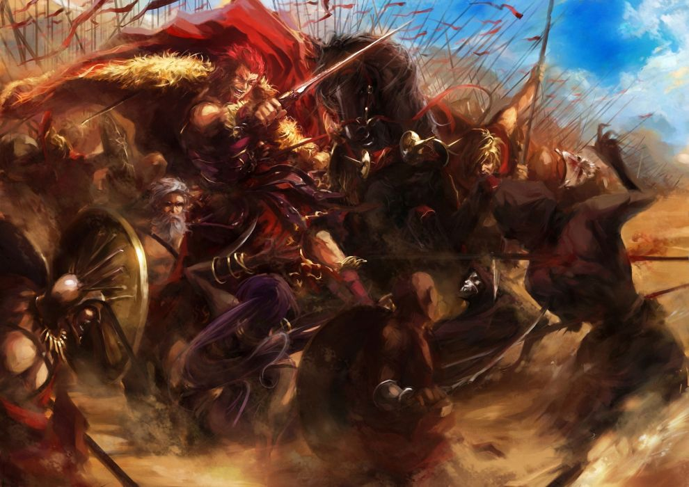 fate stay night fate zero rider assassin battle war weapons fantasy warrior wallpaper