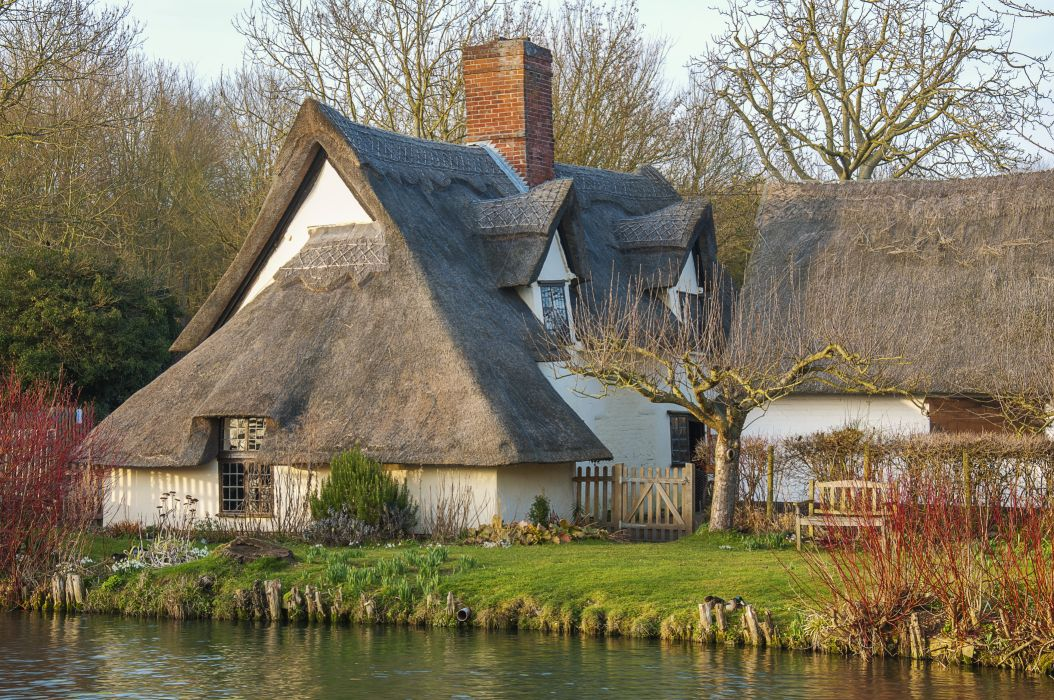 England Houses East Bergholt autumn     g wallpaper