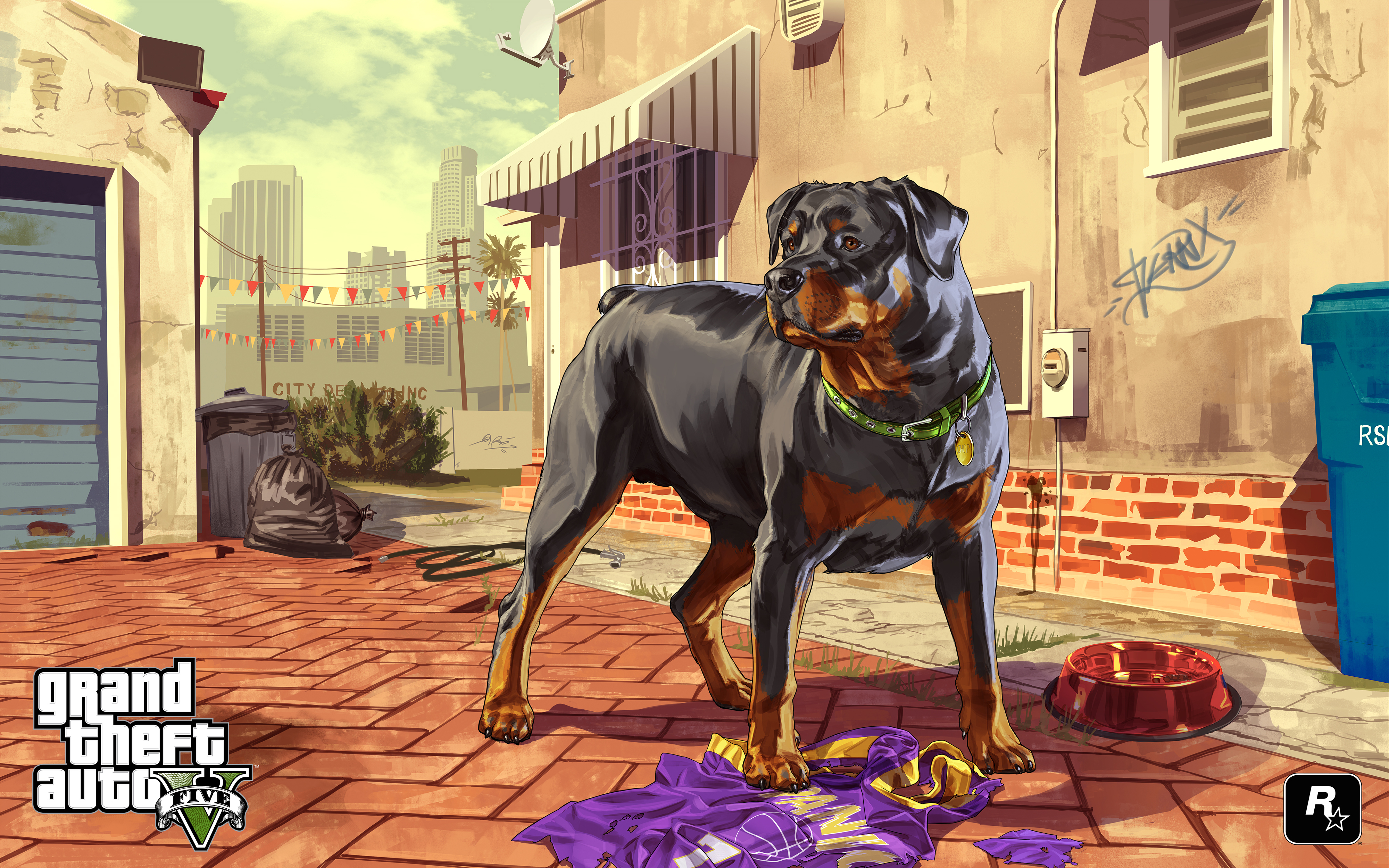 grand theft auto gta 5 dogs vector graphics games wallpaper