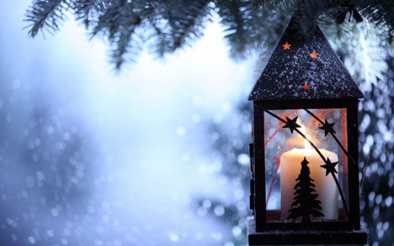 lantern flashlight snow branch df wallpaper