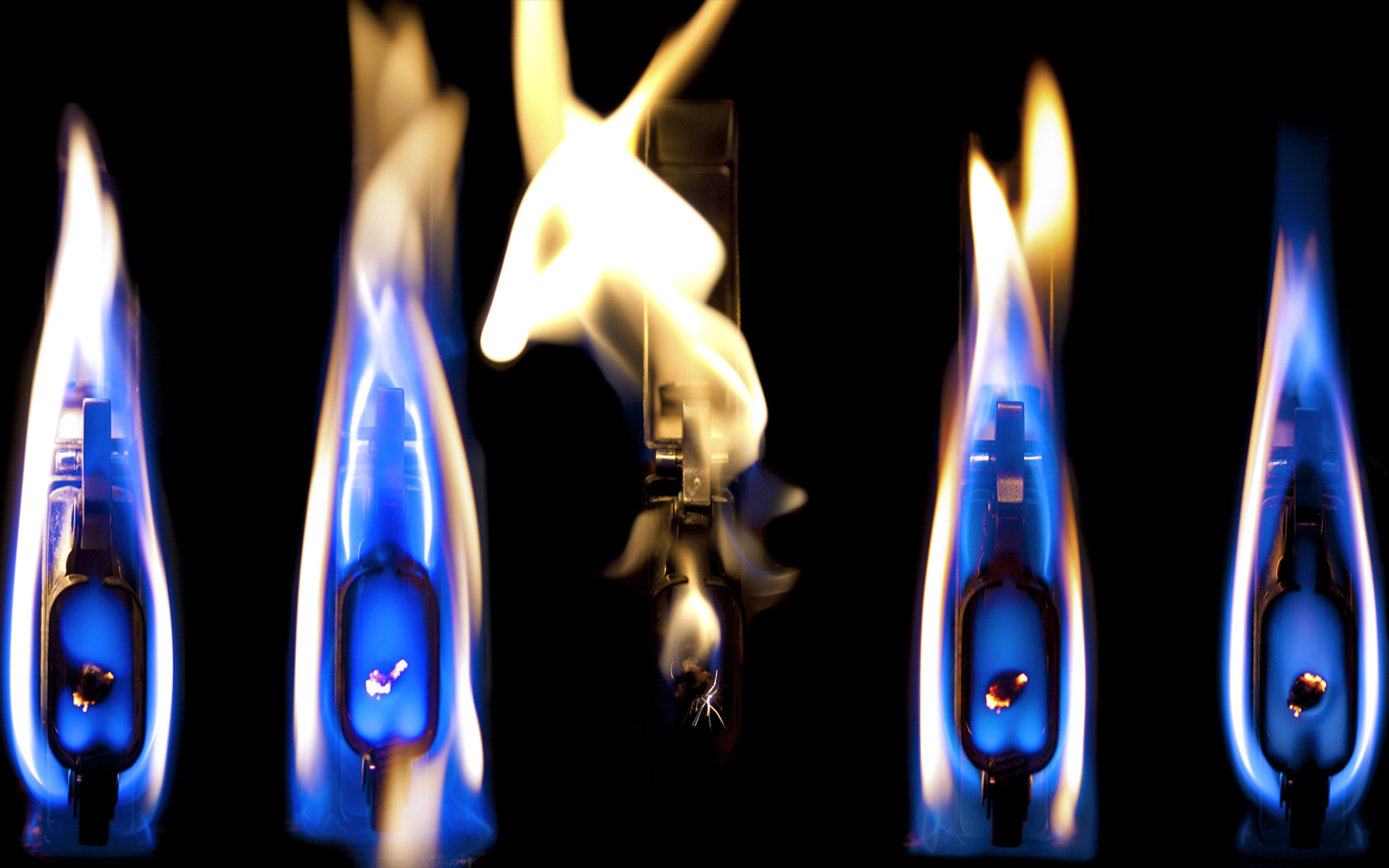 Lighters Fire Light Flames Wallpaper
