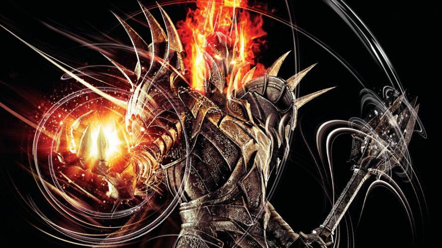 Lord of the Rings Warrior Magic Sauron Armor Helmet Games lotr d wallpaper