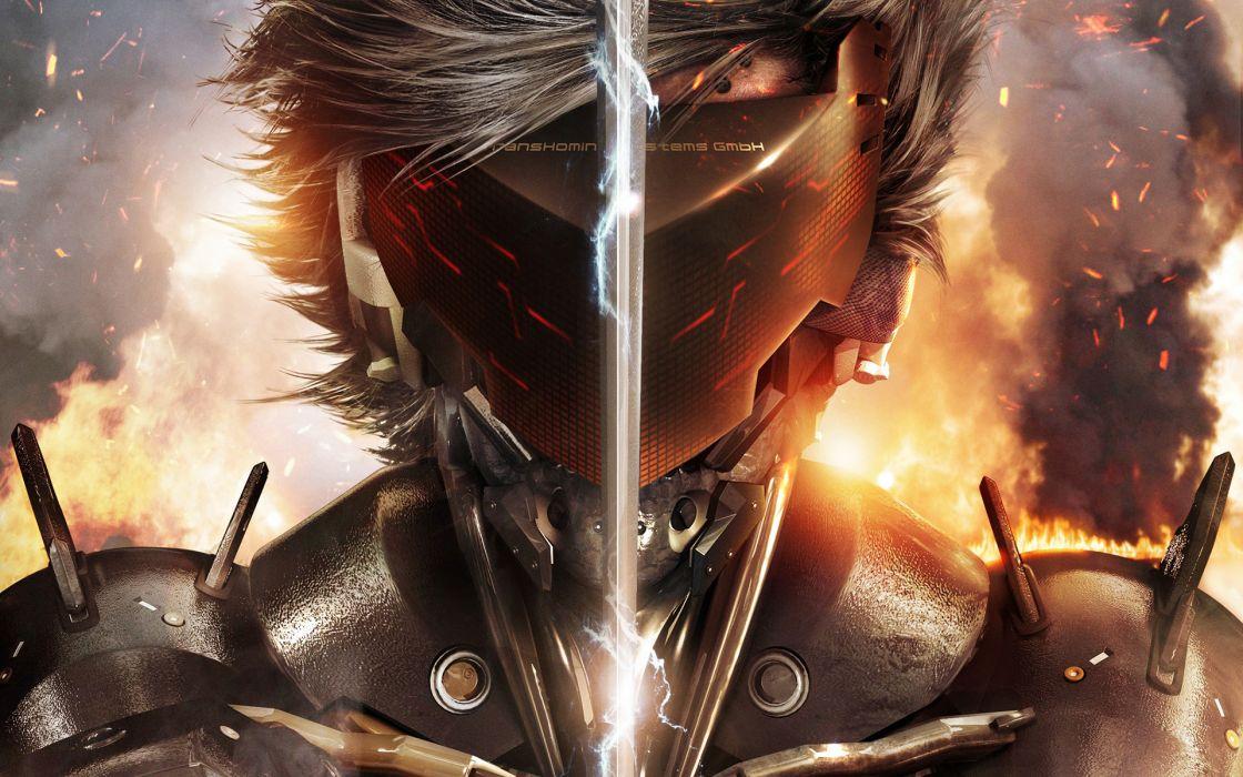 Metal Gear Warrior Games Fantasy sci-fi armor glasses cyborg     f wallpaper