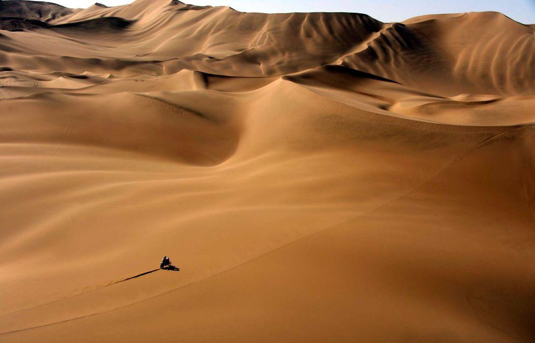 Motorcycle Dakar Rally Desert Sand Dunes Heat Sport race racing      g wallpaper