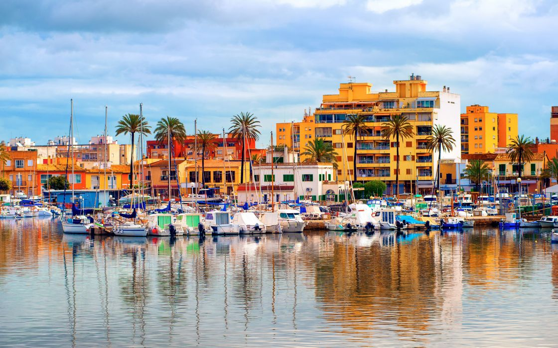 Palma de Mallorca promenade city wallpaper