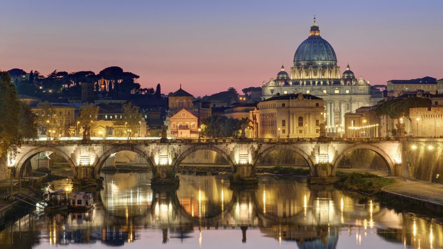 rome evening light italy reflection d wallpaper
