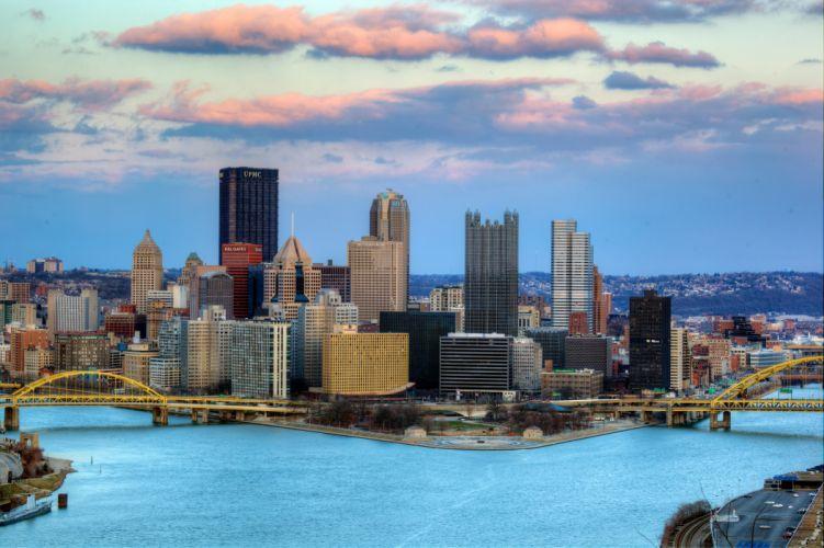 Skyscrapers Pittsburgh Cities f wallpaper