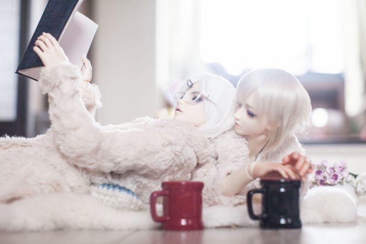 Toys Doll Cup dolls mood bokeh girl wallpaper