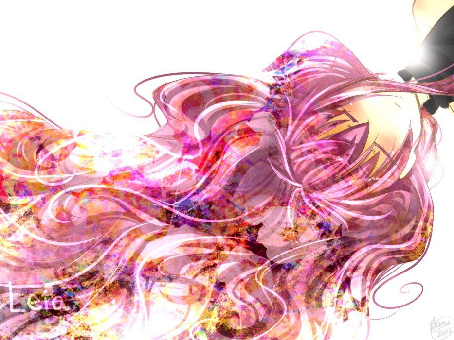 vocaloid bani long hair megurine luka pink hair sleeping vocaloid wallpaper