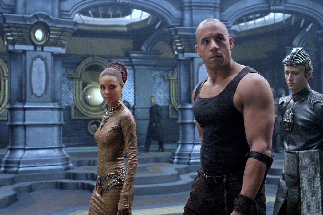 CHRONICLES OF RIDDICK sci-fi vin diesel warrior movie    f wallpaper